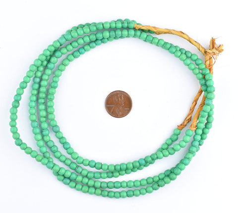 Image of Green Baby Padre Olombo Beads - The Bead Chest