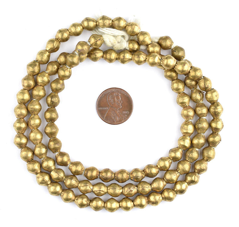 Ethiopian Brass Bicone Beads (8x7mm) - The Bead Chest