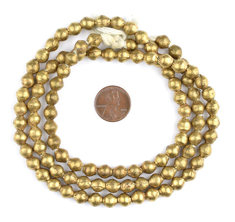 Image of Ethiopian Brass Bicone Beads (8x7mm) - The Bead Chest