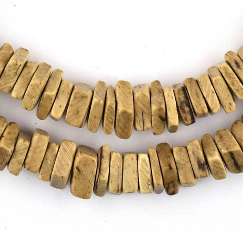 Light Brown Coconut Shell Square Heishi Beads (8mm) - The Bead Chest