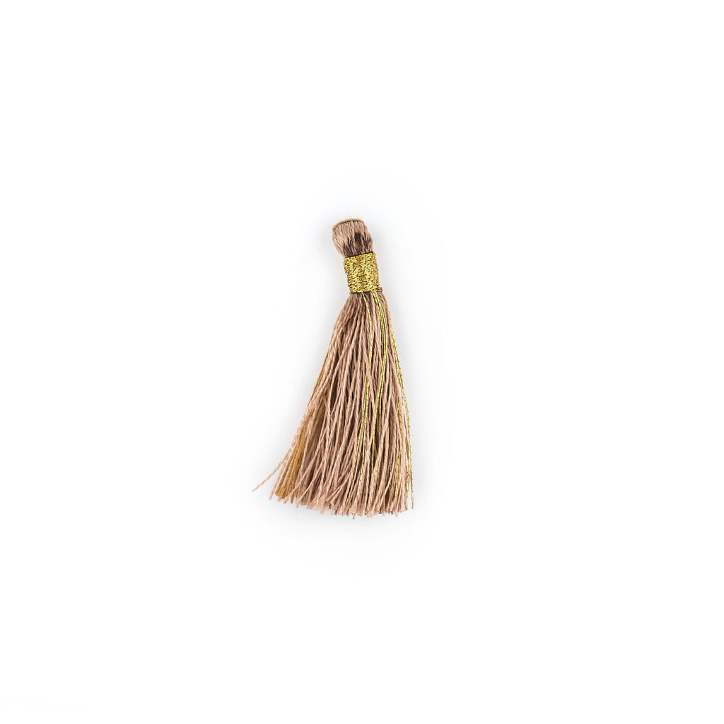 Beige 3cm Silk Tassels (5 Pack) - The Bead Chest
