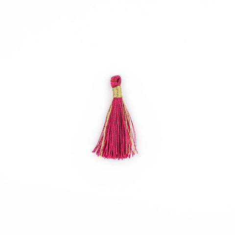 Image of Maroon 3cm Silk Tassels (5 Pack) - The Bead Chest