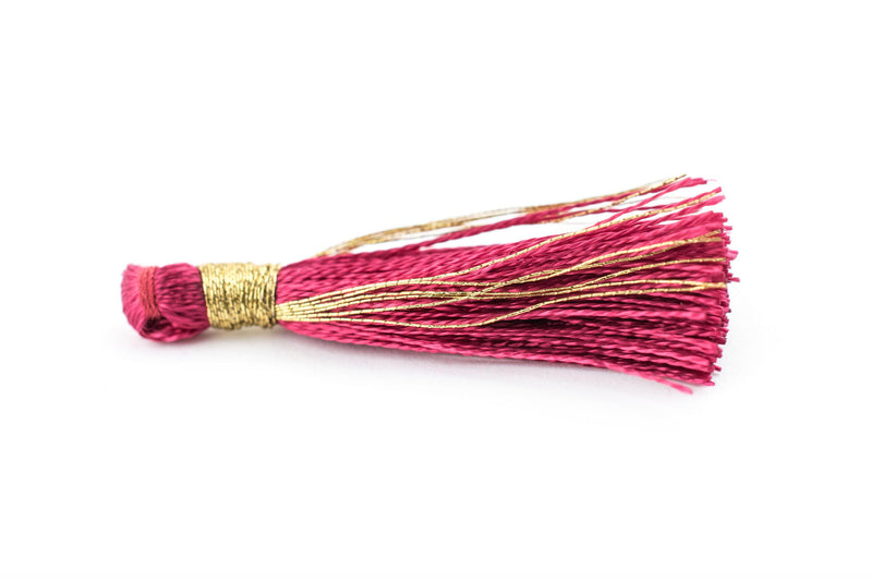 Maroon 3cm Silk Tassels (5 Pack) - The Bead Chest