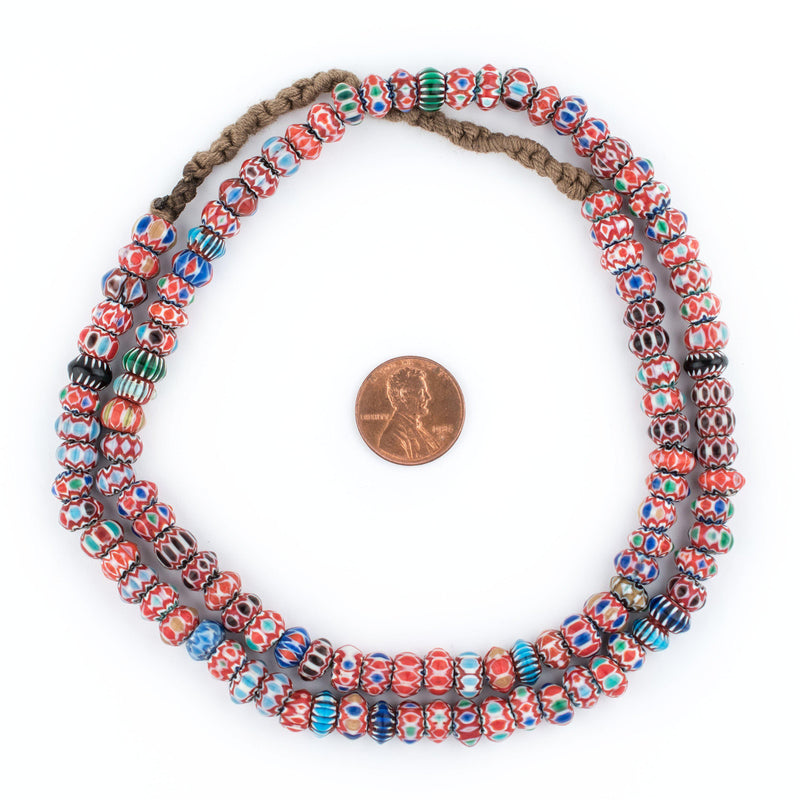Disk Nepal Chevron Beads (5x8mm) - The Bead Chest