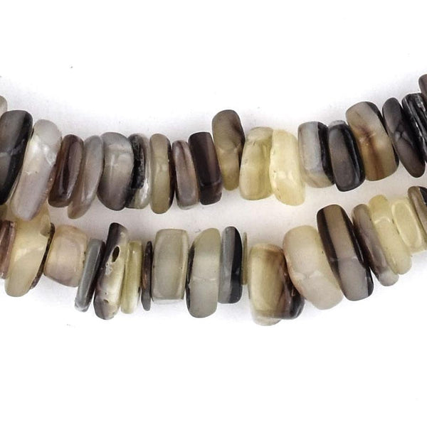Brown Square Cut Natural Shell Heishi Beads (8mm) - The Bead Chest