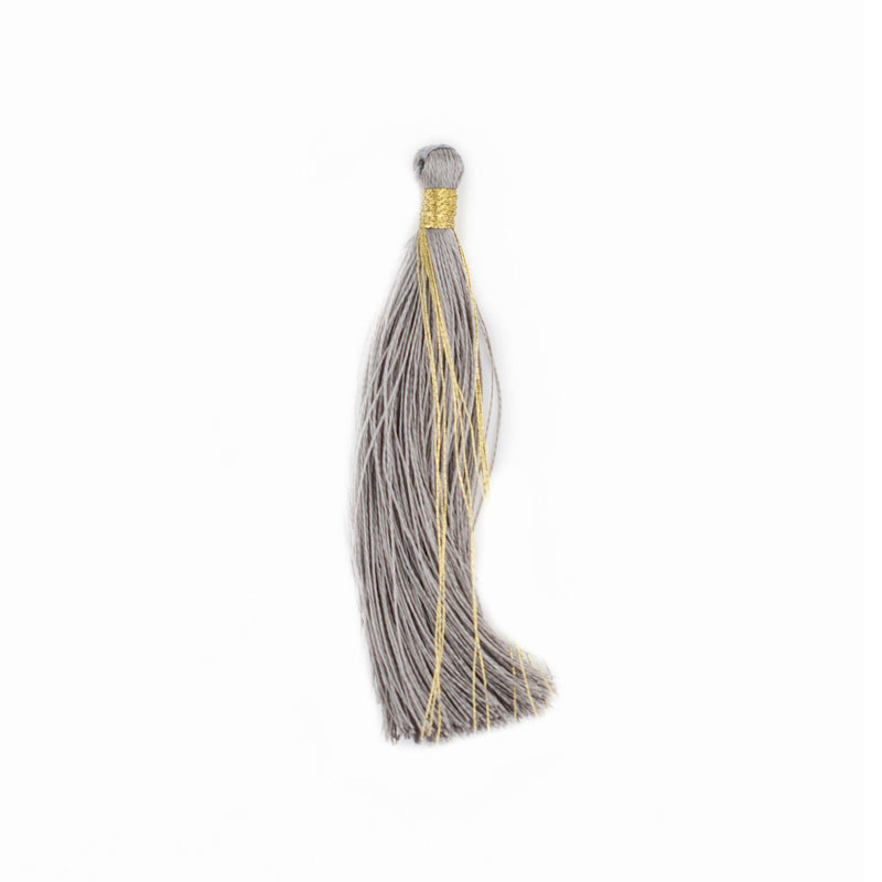 Silver Color 6cm Silk Tassels (5 Pack) - The Bead Chest