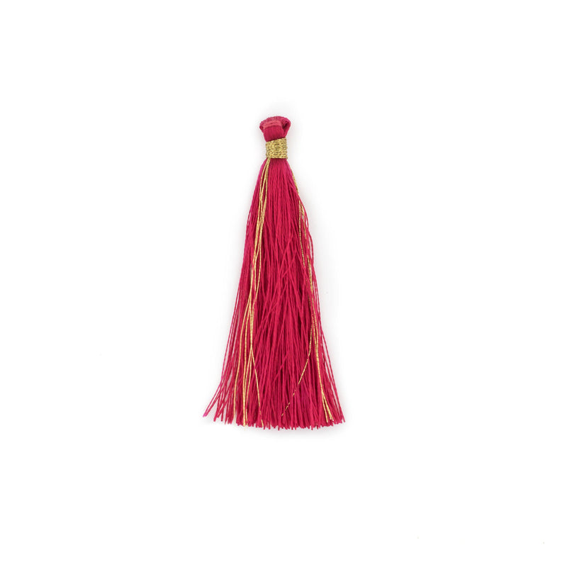 Red 6cm Silk Tassels (5 Pack) - The Bead Chest