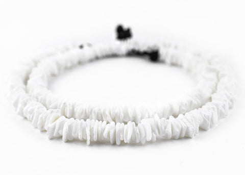 Matte White Shell Square Heishi Beads (9mm) - The Bead Chest