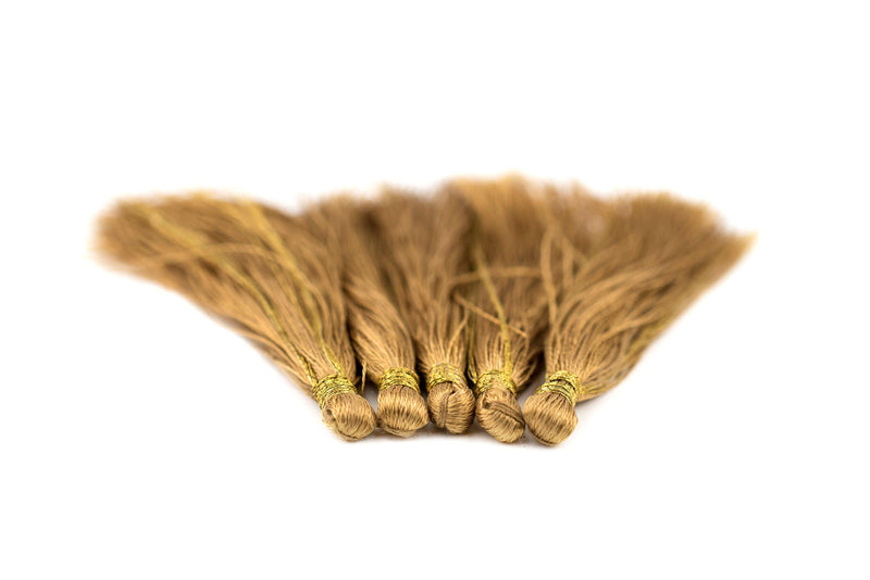 Brass Color 6cm Silk Tassels (5 Pack) - The Bead Chest