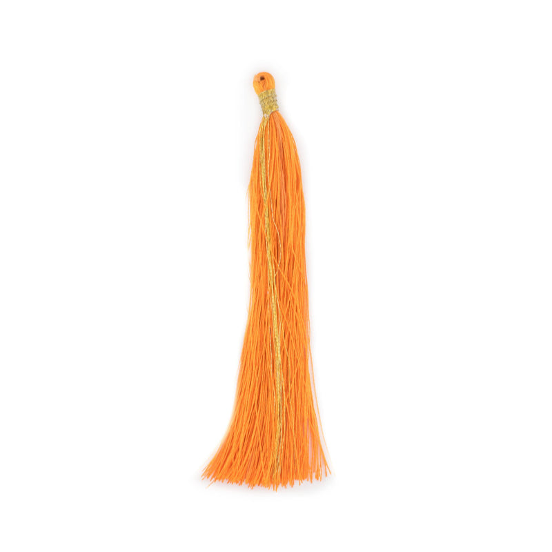 Orange 9cm Silk Tassels (5 Pack) - The Bead Chest