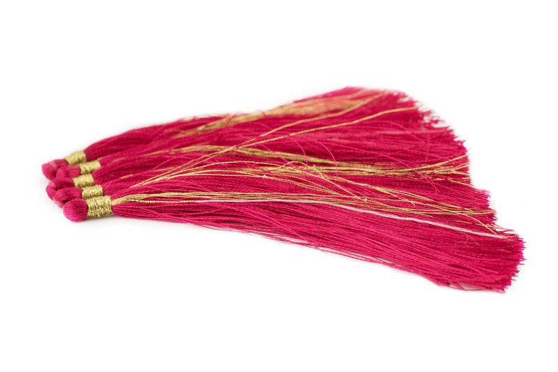 Red 9cm Silk Tassels (5 Pack) - The Bead Chest