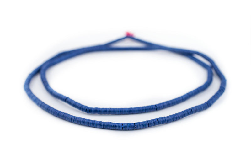 Cobalt Blue Vinyl Phono Record Beads (4mm) - The Bead Chest