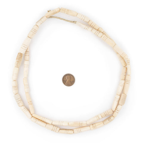 Carved Nigerian Camel Bone Beads - The Bead Chest