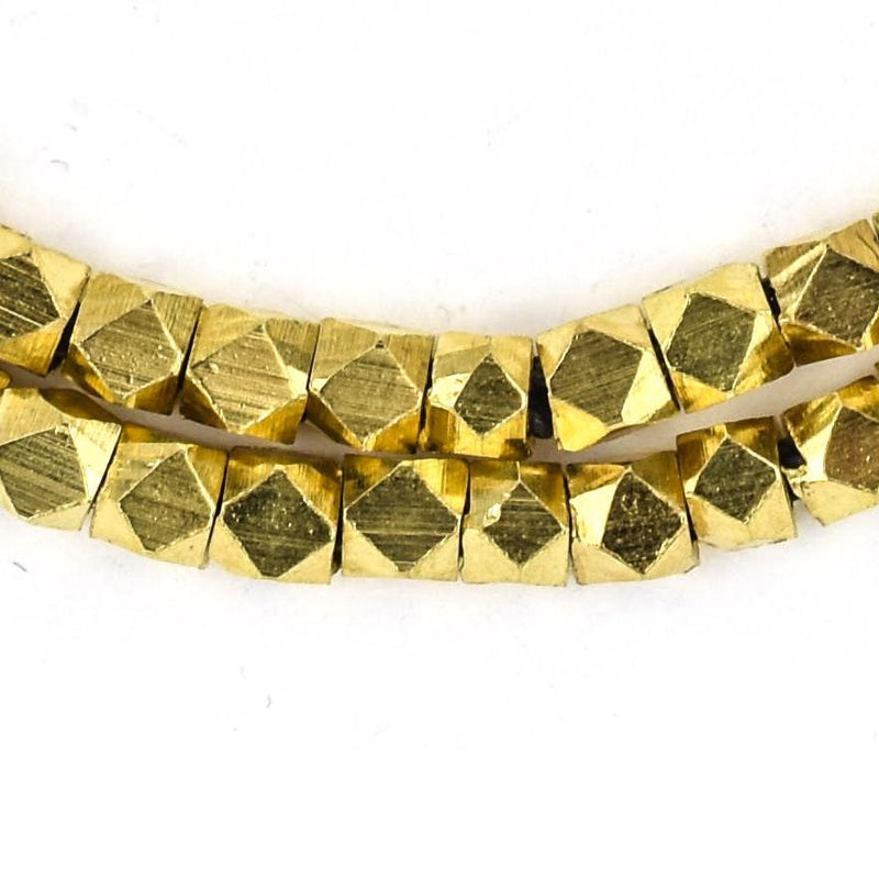Gold Diamond Cut Beads (4mm) (Loose Beads) - The Bead Chest