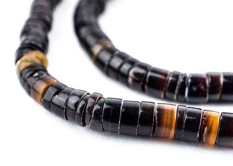 Image of Black Natural Shell Heishi Beads (5mm) - The Bead Chest