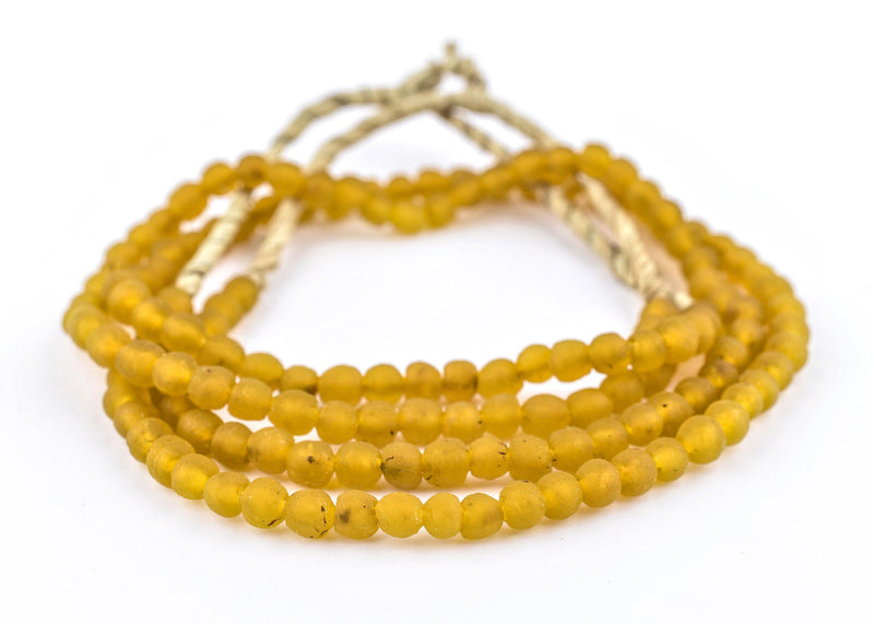 Tangerine Orange Recycled Glass Beads (7mm) - The Bead Chest