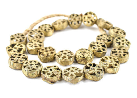 Circular Eye Brass Filigree Beads (10x21mm) - The Bead Chest