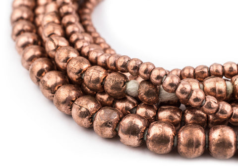 Image of 3 Strand Bundle: Ethiopian Round Copper Beads (4mm, 6mm, 8mm) - The Bead Chest