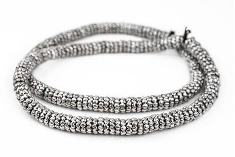 Image of Silver Aja Flower Beads (11mm) - The Bead Chest