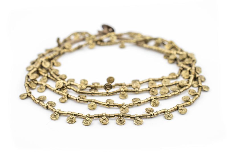 Gold Mini Baule Charm Beads (Double Strand Necklace) - The Bead Chest