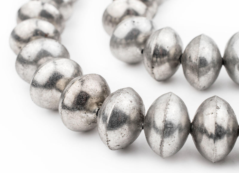 Ethiopian Silver Saucer Beads (20mm) - The Bead Chest