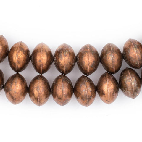 Ethiopian Copper Saucer Beads (20mm) - The Bead Chest
