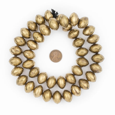 Image of Ethiopian Brass Saucer Beads (20mm) - The Bead Chest