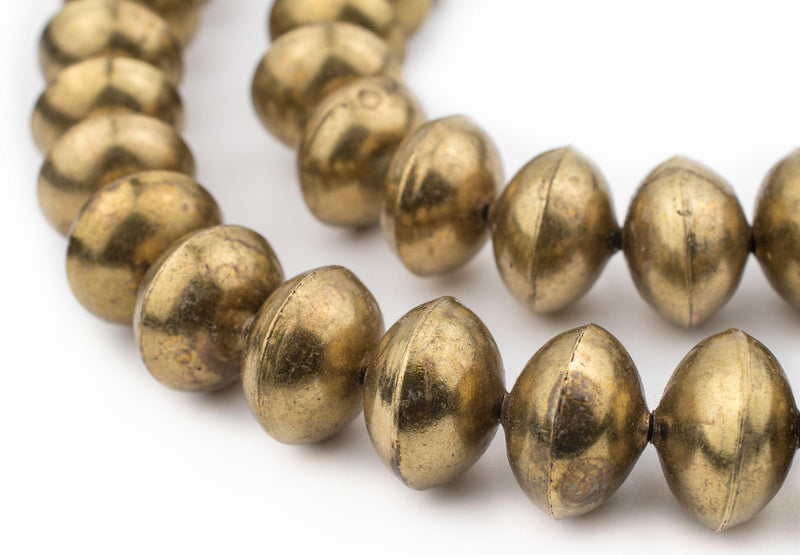 Ethiopian Brass Saucer Beads (20mm) - The Bead Chest