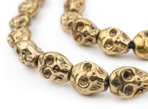 Image of Brass Skull Beads (14x12mm) - The Bead Chest