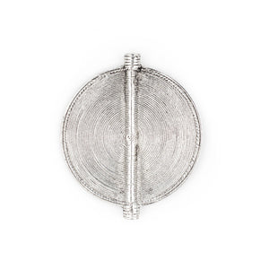 Silver Sun Baule Bead Pendant (78x66mm) - The Bead Chest