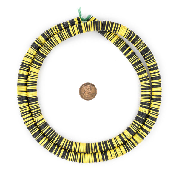 Bumblebee Medley Vinyl Phono Record Beads (10mm)