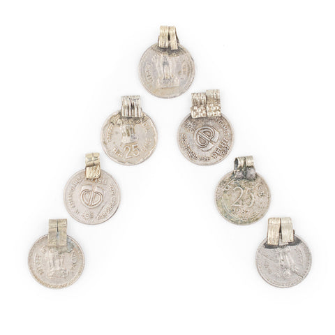 Authentic Indian Coin Pendants (Set of 8) - The Bead Chest