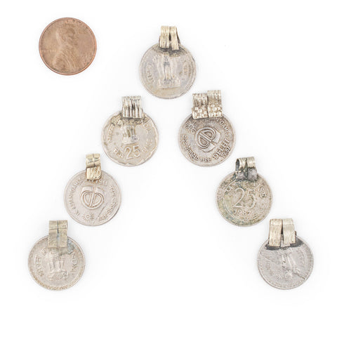 Image of Authentic Indian Coin Pendants (Set of 8) - The Bead Chest