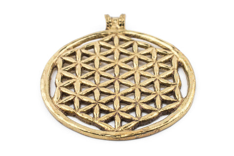 Brass Arabian Lattice Pendant (75x64mm) - The Bead Chest