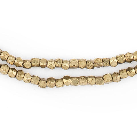 Brass Tiny Faceted Diamond Cut Beads (2mm) - The Bead Chest