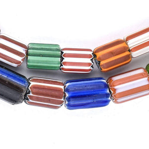 Mixed Nepal Chevron Beads (14x10mm) - The Bead Chest