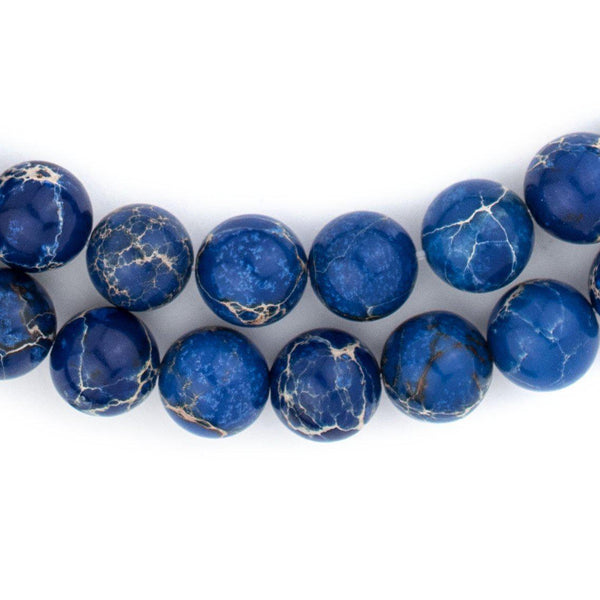 Blue Sea Sediment Jasper Beads (10mm) - The Bead Chest