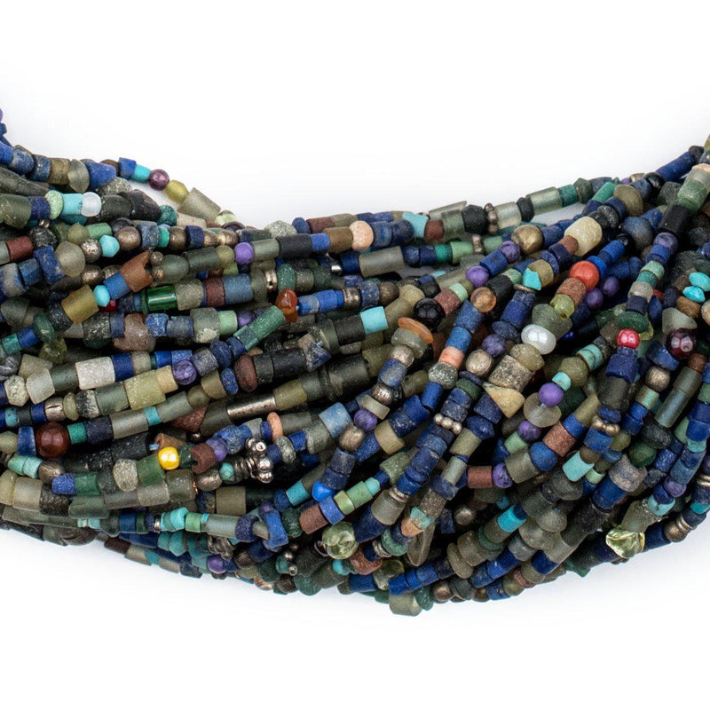 Medley of Afghani Lapis and Turquoise Beads - The Bead Chest