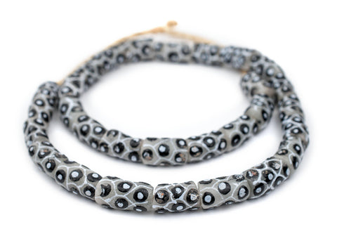 Grey Eye Krobo Beads - The Bead Chest