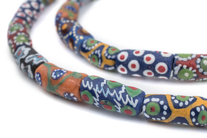Fancy Mixed Elbow Krobo Powder Glass Beads - The Bead Chest