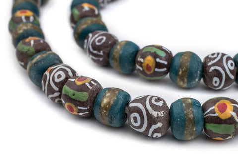 Premium Turquoise Medley Krobo Beads - The Bead Chest
