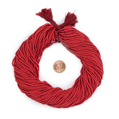 Red Afghani Tribal Seed Beads