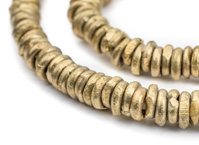 Ghana Brass Donut Beads (9mm) - The Bead Chest