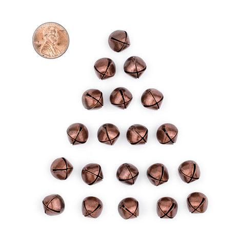 Antiqued Copper Bell Beads (Set of 20) - The Bead Chest