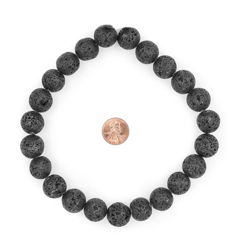 Black Volcanic Lava Beads (16mm) - The Bead Chest