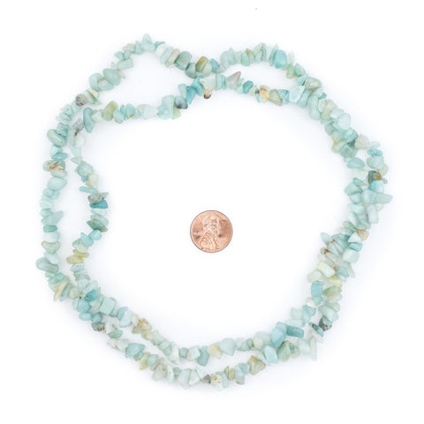 Amazonite Chip Beads - The Bead Chest