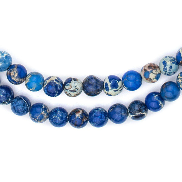 Blue Sea Sediment Jasper Beads (6mm) - The Bead Chest