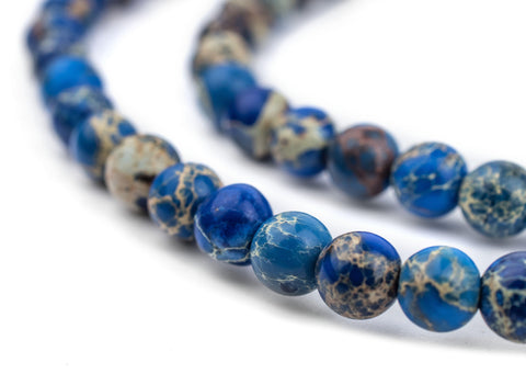 Image of Blue Sea Sediment Jasper Beads (6mm) - The Bead Chest