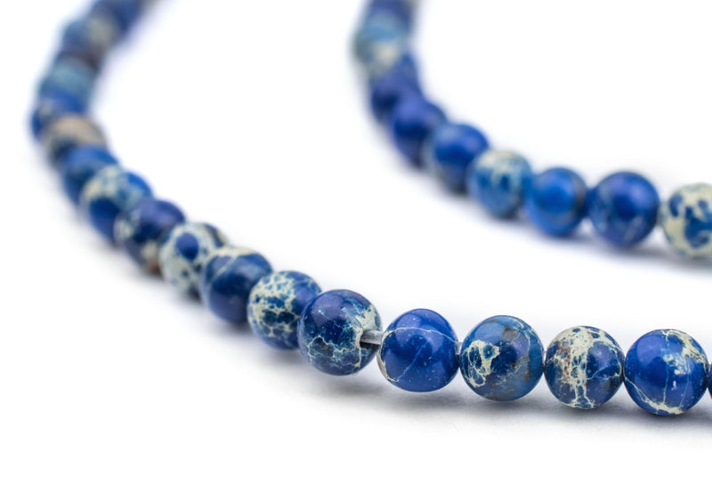 Blue Sea Sediment Jasper Beads (4mm) - The Bead Chest