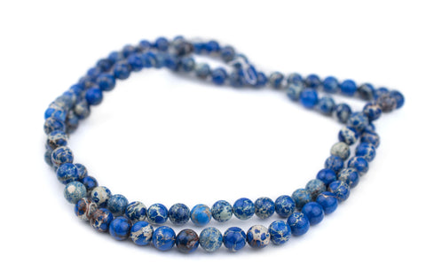 Blue Sea Sediment Jasper Beads (8mm) - The Bead Chest